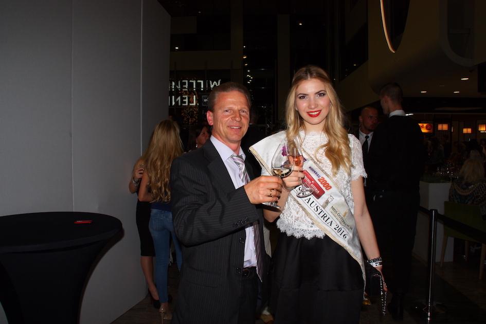 Josef Weiss mit Miss Austria 2016 Dragana Stankovic