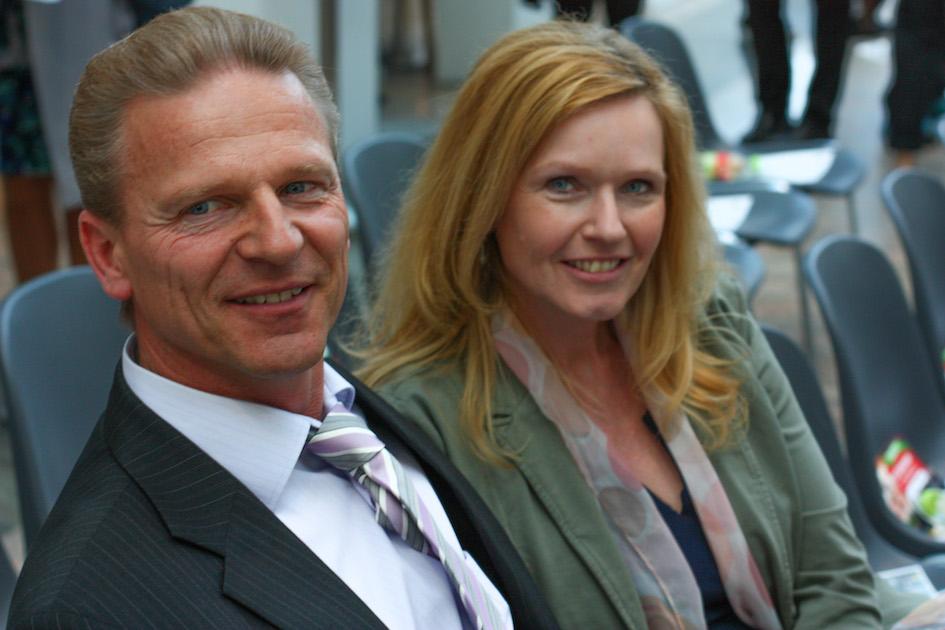 Josef und Renate Weiß bei der Miss Vienna Wahl