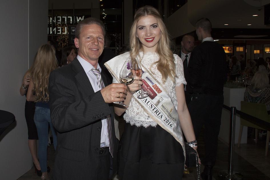 Josef Weiß mit der Miss Austria 2016 Dragana Stankovic