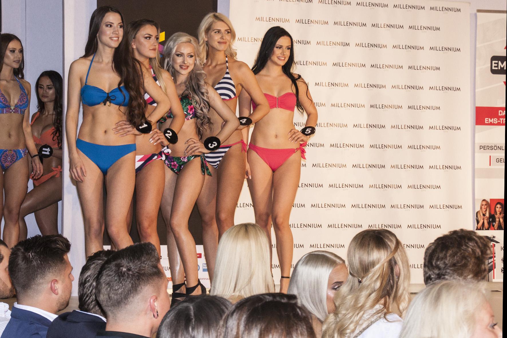 Bikiniparade bei der Miss Vienna Wahl
