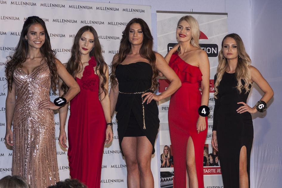 Finale der letzten 5 Kandidatinnen bei der Miss Vienna Wahl 2017