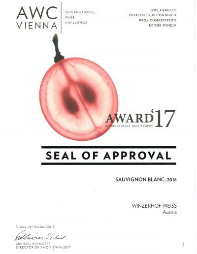 Auszeichnung 2017