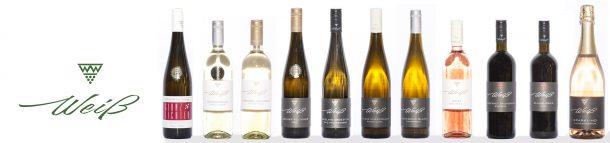 Winzerhof Weiß Weinsortiment: Grüner Veltliner, Sauvignon Blanc, Riesling, Gelber Muskateller, Weißburgunder, Zweigelt,