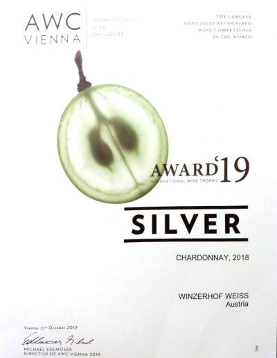 Auszeichnung 2019 Chardonnay