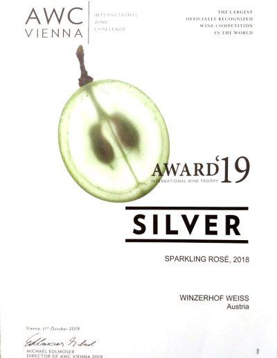 Auszeichnung 2019 Sparkling Rose