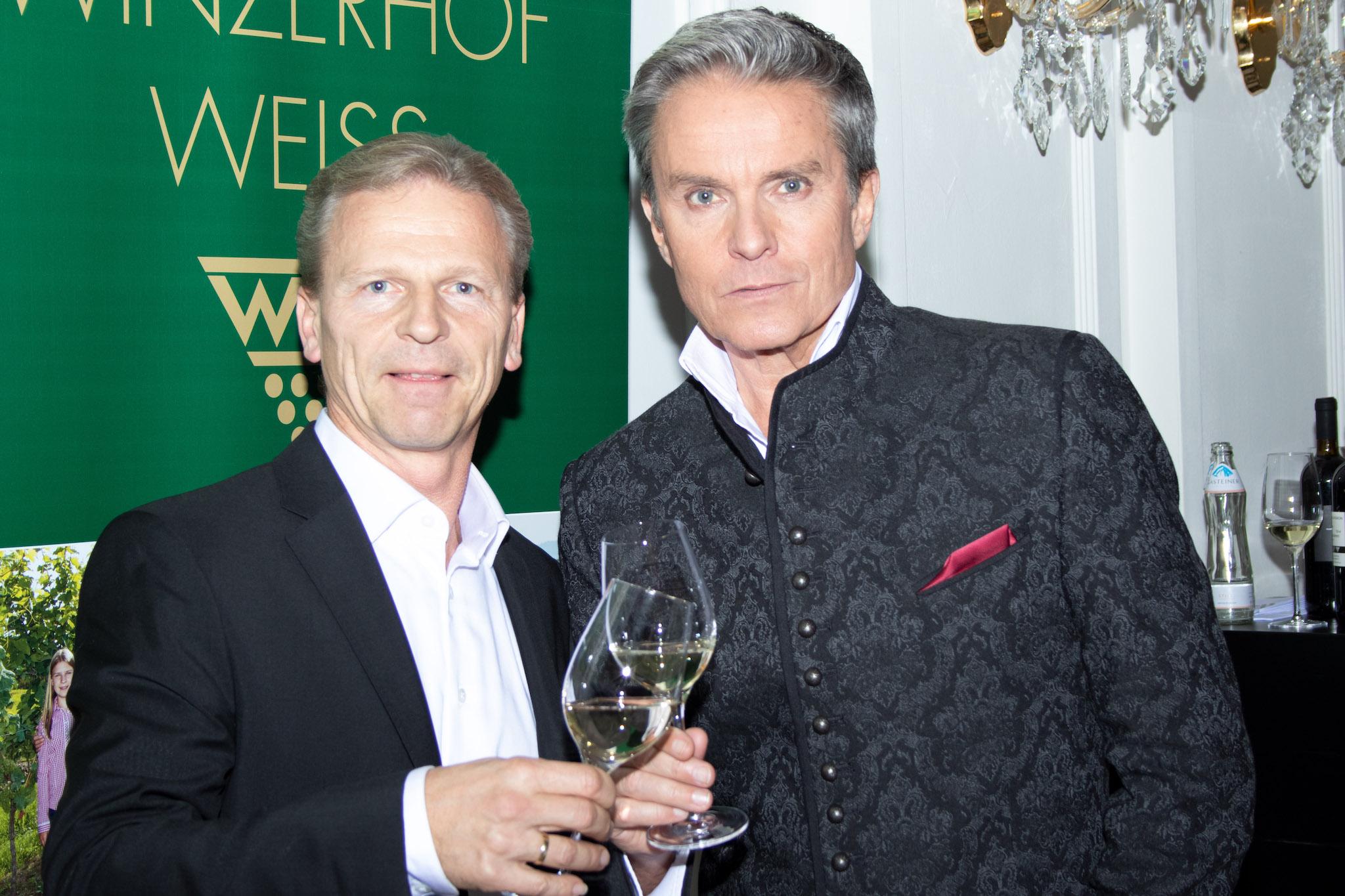 Josef Weiß mit Alfons Haider