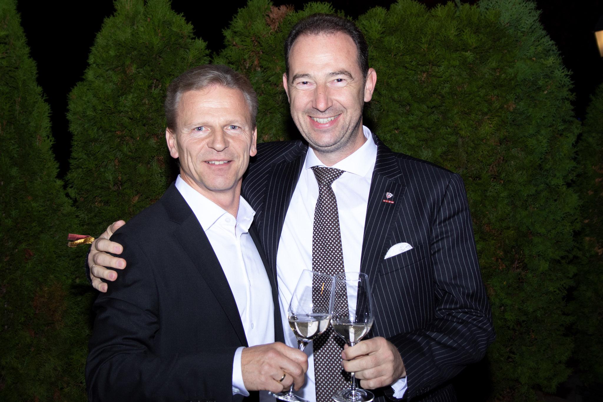 Josef Weiß mit Mario Pulker - Obmann des Fachverbandes Gastronomie WKO
