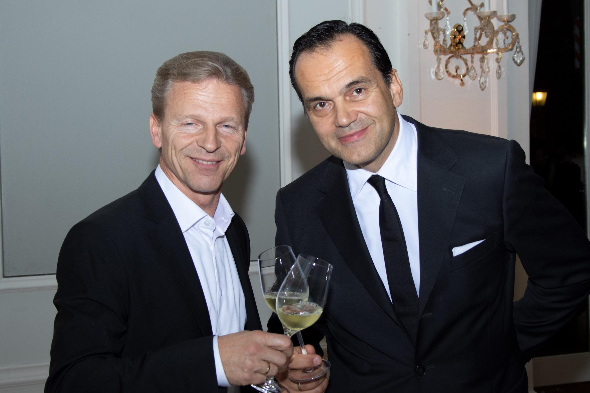 Josef Weiß mit Robert Glock